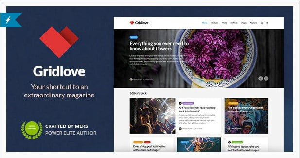 Gridlove - 36+ Amazing Tumblr Style WordPress Themes For Developer [year]
