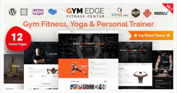 Gym-Edge - 36+ Amazing Tumblr Style WordPress Themes For Developer [year]