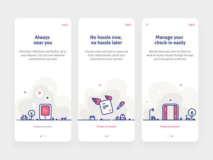 Gymforless-Onboarding - 51+ Best Free Onboarding UI Mobile App Sample [year]