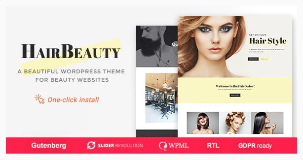 Hair-Beauty - 31+ Best Hairdresser & Portfolio WordPress Themes [year]