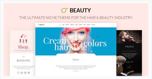 Hair-Salo - 31+ Best Hairdresser & Portfolio WordPress Themes [year]