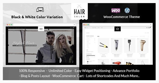Hair-Salon-1 - 31+ Best Hairdresser & Portfolio WordPress Themes [year]
