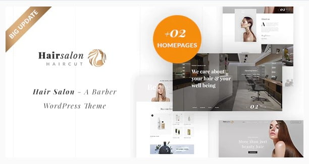 Hair-Salon - 31+ Best Hairdresser & Portfolio WordPress Themes [year]