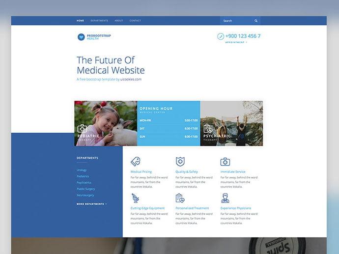 Health - 65+ Amazing Free CSS HTML5 Website Design Templates [year]