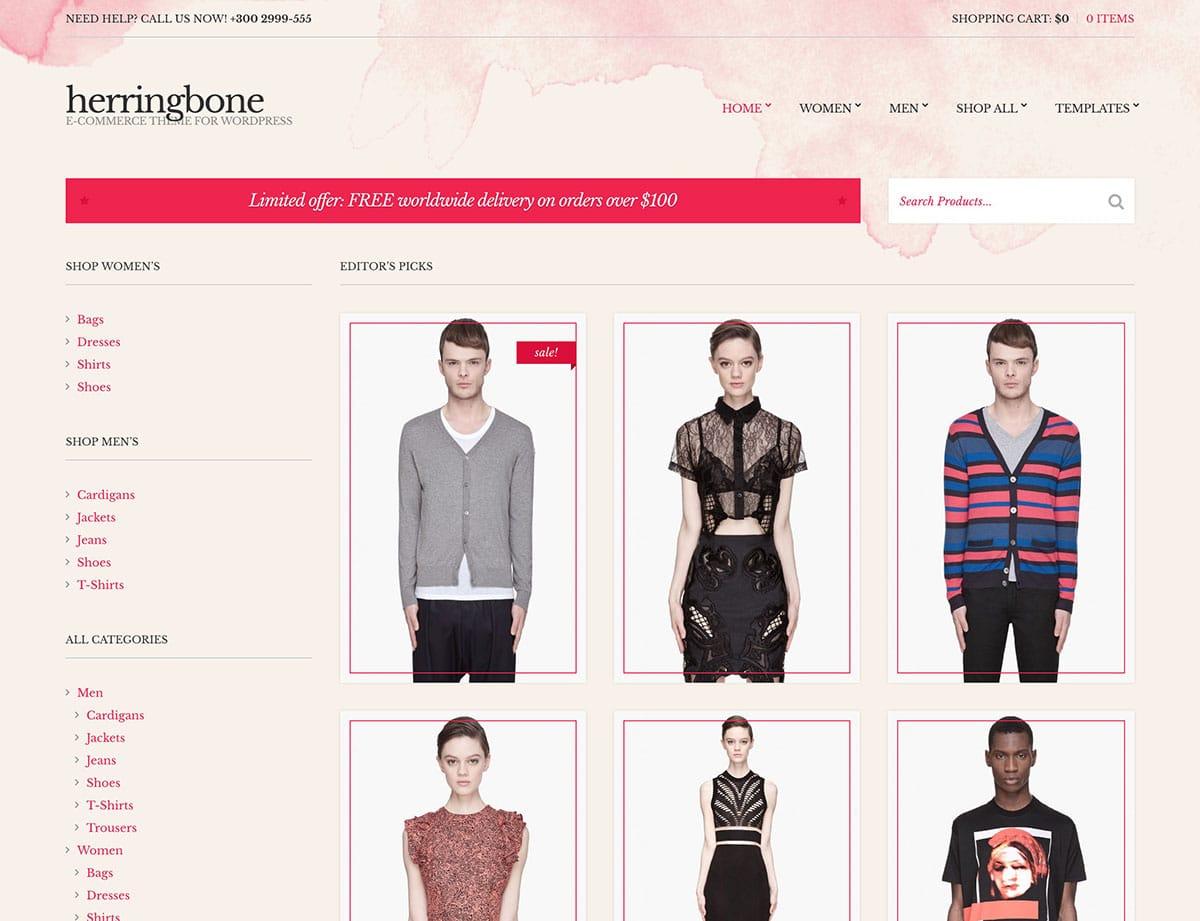 Herringbone - 46+ Top Best WordPress Themes For Ecommerce [year]