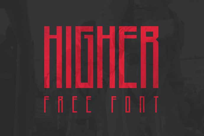 Higher - 56+ Awesome Free Movie Poster Title Extra Bold Fonts [year]