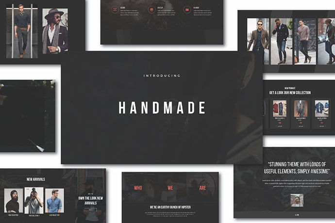 Hipster-Handmade-Keynote - 36+ Attractive Typography Keynote Templates [year]