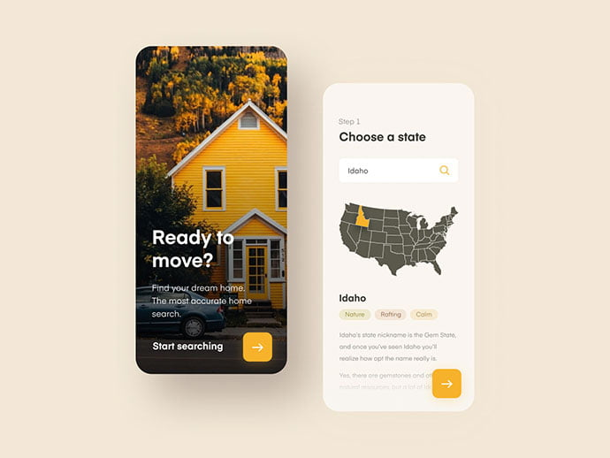 Home-Search-Mobile-App - 51+ Best Free Onboarding UI Mobile App Sample [year]