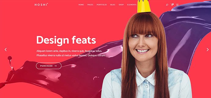 Hoshi - 36+ Wonderful Gradients Designs WordPress Theme [year]