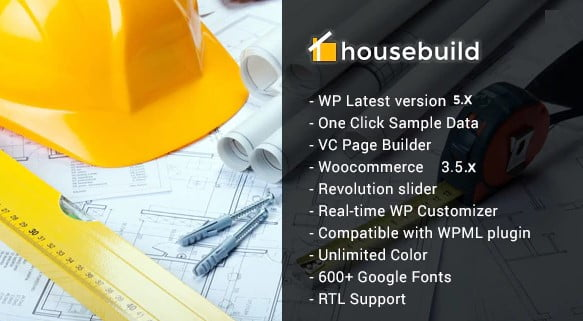 Housebuild - 37+ Top WordPress Themes For Construction Company [year]
