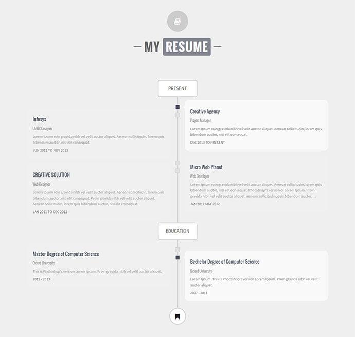 Identity - 34+ Marvelous WordPress Resume Themes [year]