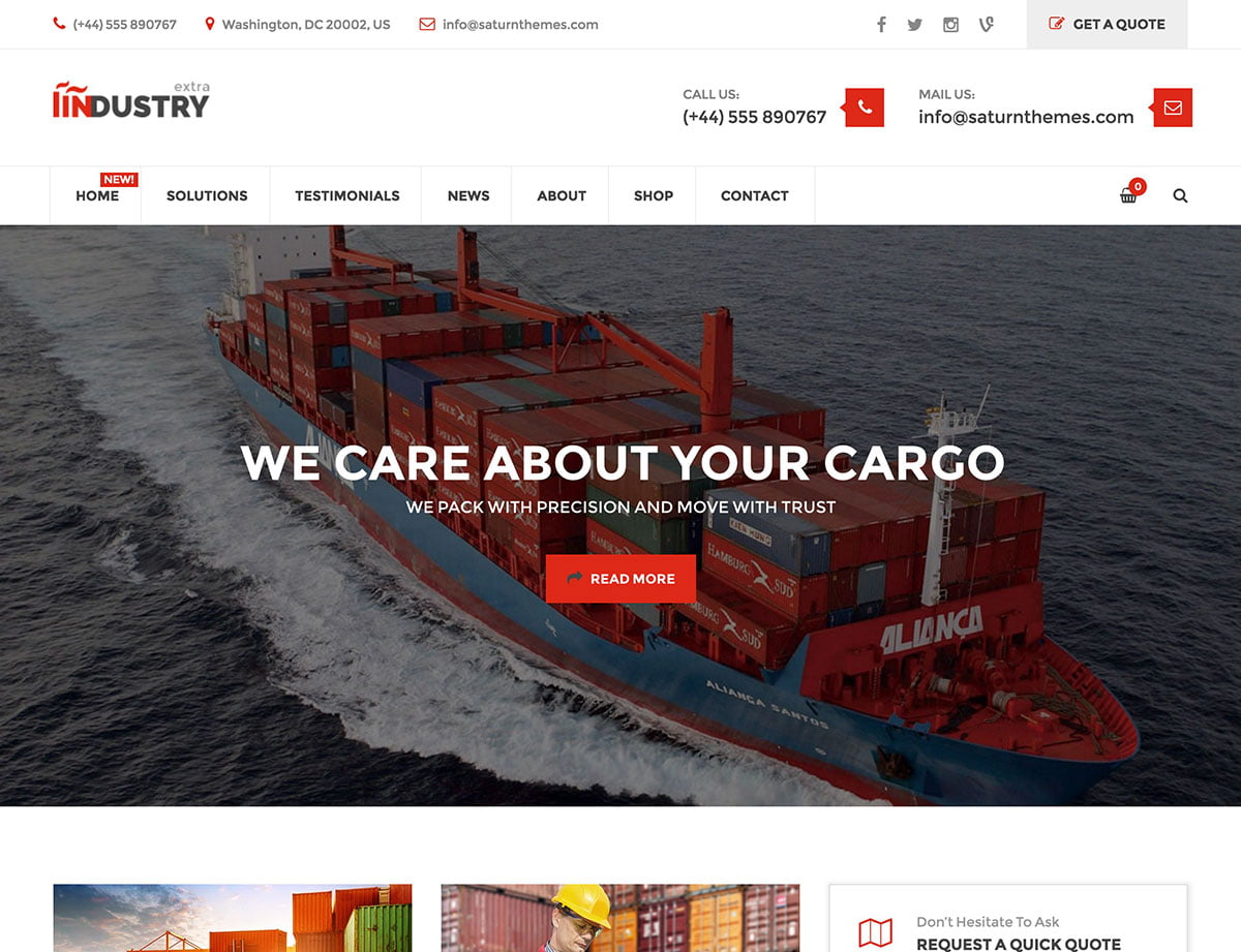Industry - 36+ Stunning WordPress Themes For Transportation [year]