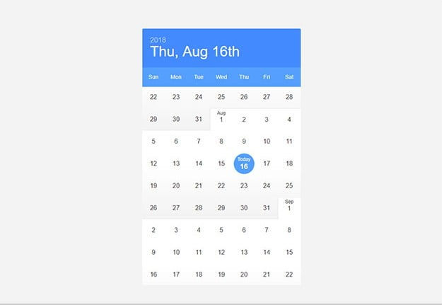 Infinite-Calendar