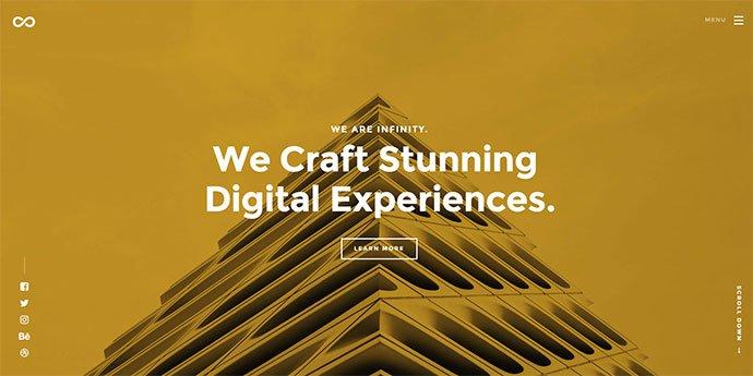 Infinity - 65+ Amazing Free CSS HTML5 Website Design Templates [year]