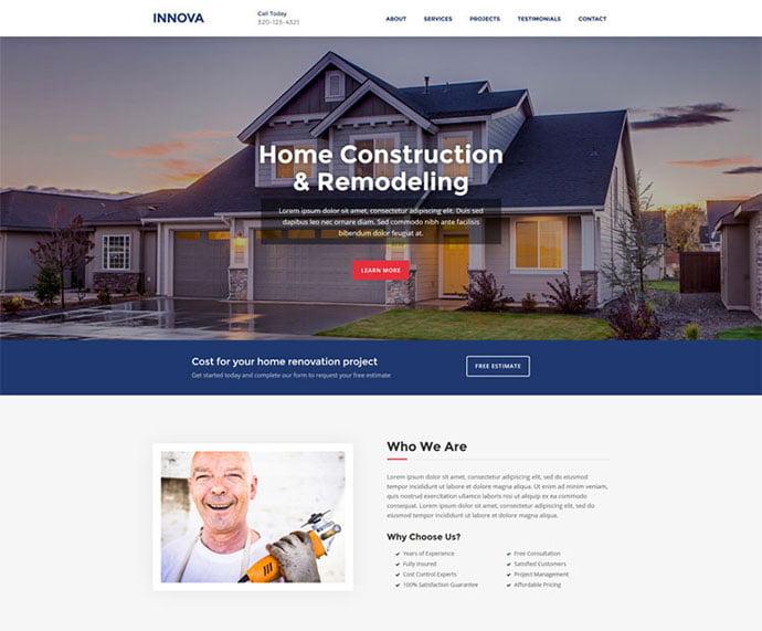 Innova - 65+ Amazing Free CSS HTML5 Website Design Templates [year]