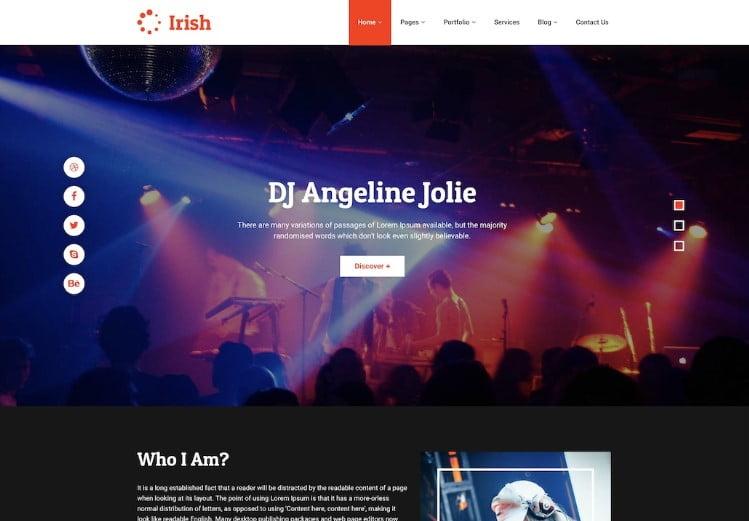 Irish - 41+ Stunning Responsive Music Website Templates [year]