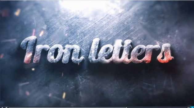 Iron-Letters-1 - 51+ Marvelous After Effects Logo Animation Templates [year]