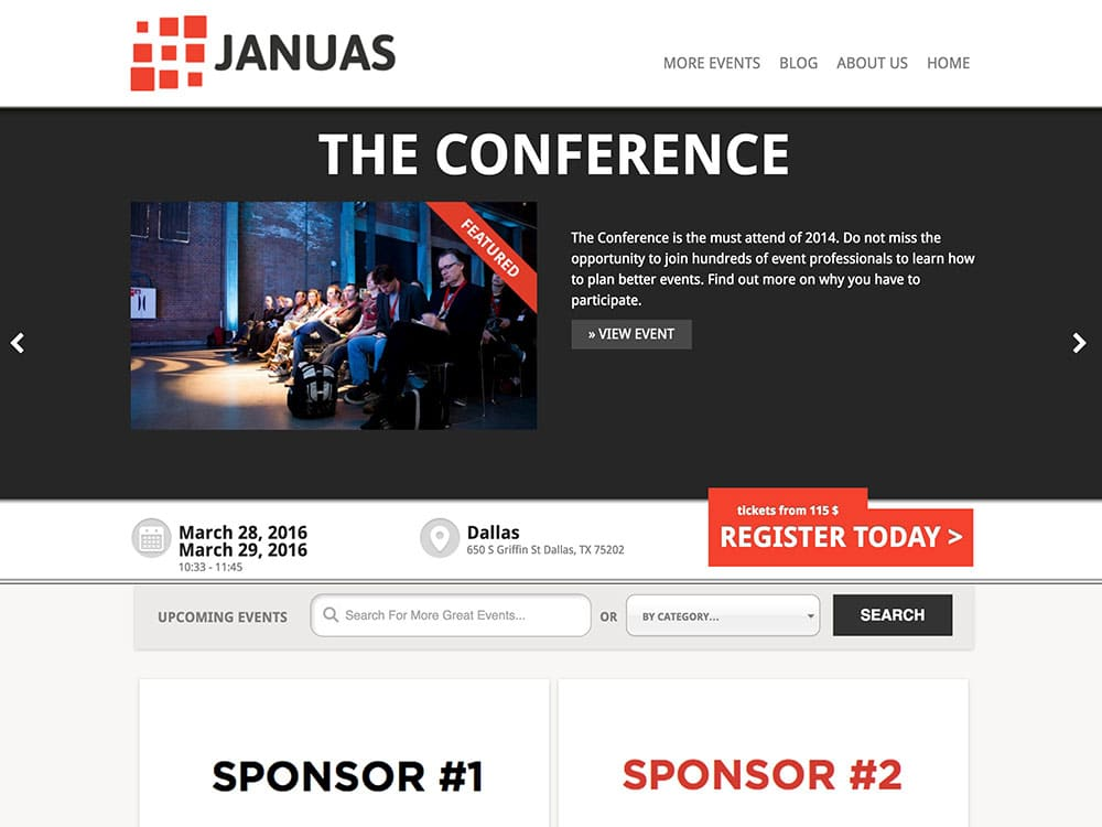 Januas - 41+ Top Awesome WordPress Themes For Events [year]