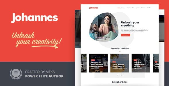 Johannes - 33+ WordPress Themes To Make Your Blog Attractive [year]