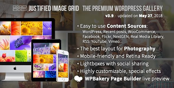 Justified-Image-Grid - 28+ Awesome Gallery Plugins For WordPress [year]