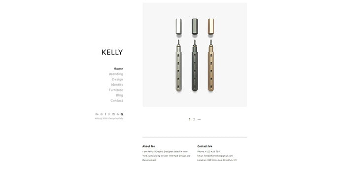 Kelly - 31+ Awesome WordPress Themes For Swiss-inspired [year]