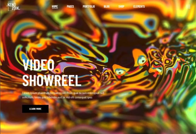 Kenozoik - 26+ Nice WordPress Video Themes For Motion Designer [year]