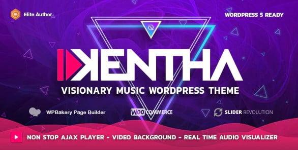 Kentha-1 - 41+ Stunning Responsive Music Website Templates [year]