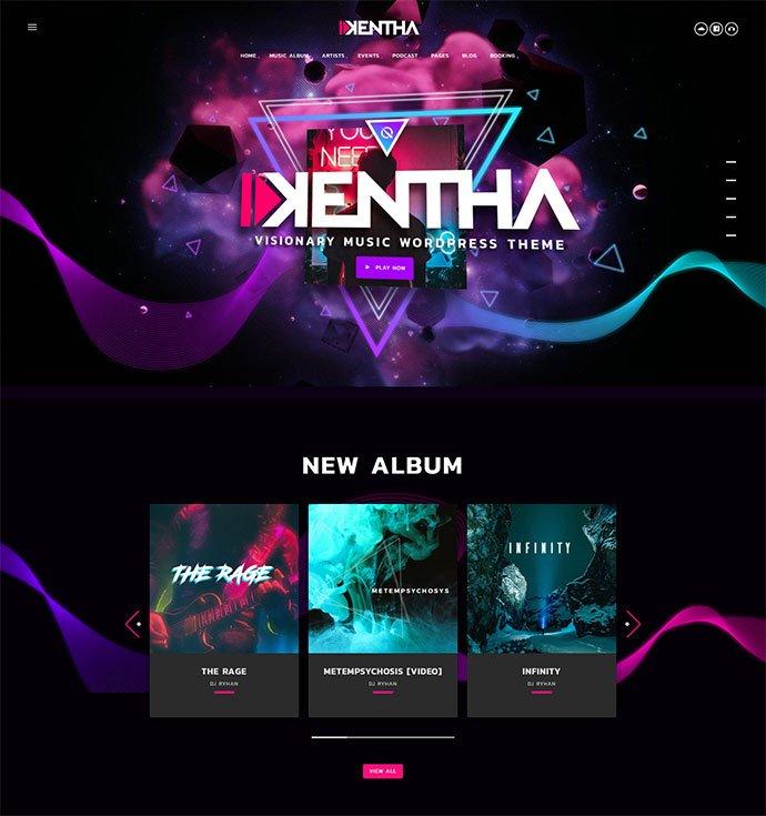 Kentha - 31+ Best Online Music Selling WordPress Themes [year]