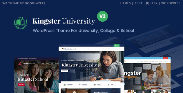 Kingster - 51+ Top Best WordPress Themes For Education [year]