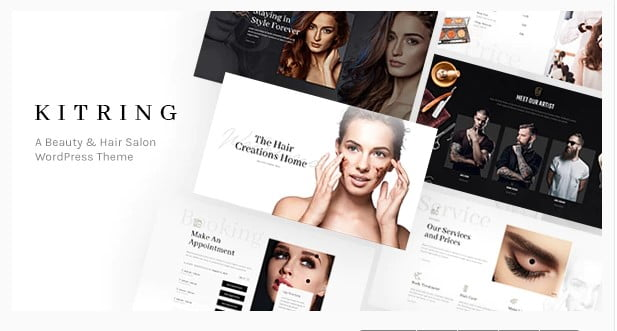 Kitring - 31+ Best Hairdresser & Portfolio WordPress Themes [year]