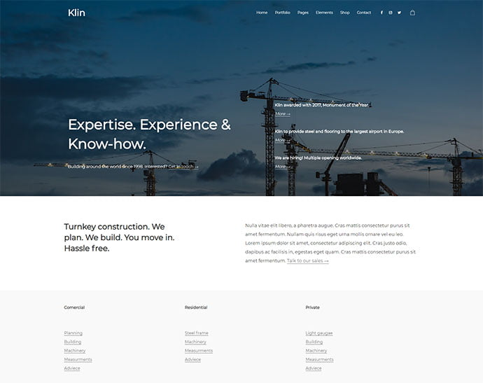 Klin - 31+ Awesome WordPress Themes For Swiss-inspired [year]