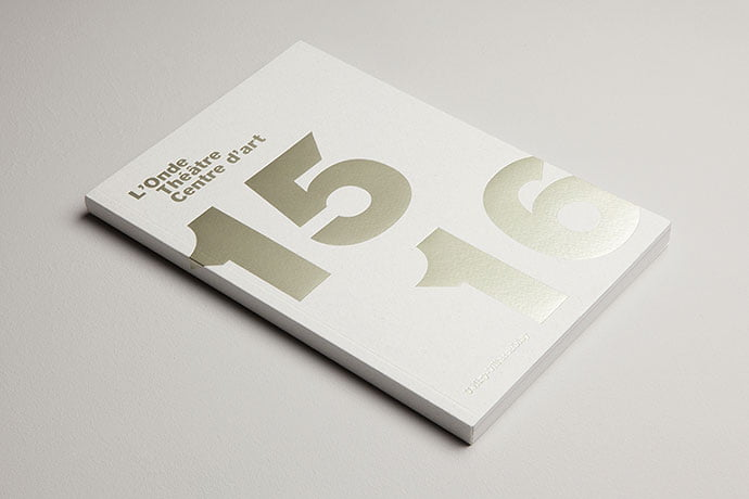 L'Onde-Théâtre-Centre-d'Art - 63+ Surprising Typography In Magazine & Book Designs [year]