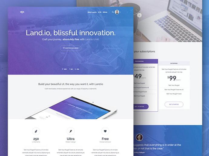 Land.io_ - 65+ Amazing Free CSS HTML5 Website Design Templates [year]