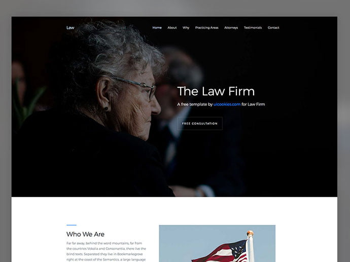 Law - 65+ Amazing Free CSS HTML5 Website Design Templates [year]