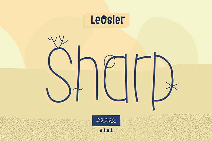 LeOsler-Sharp - 32+ Honestly Impressive Distorted Fonts [year]
