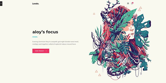 Leedo-1 - 31+ Unique Parallax Experience WordPress Themes For Developer [year]