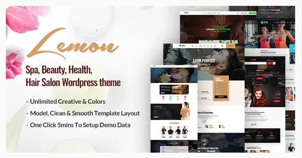 Lemon - 31+ Best Hairdresser & Portfolio WordPress Themes [year]