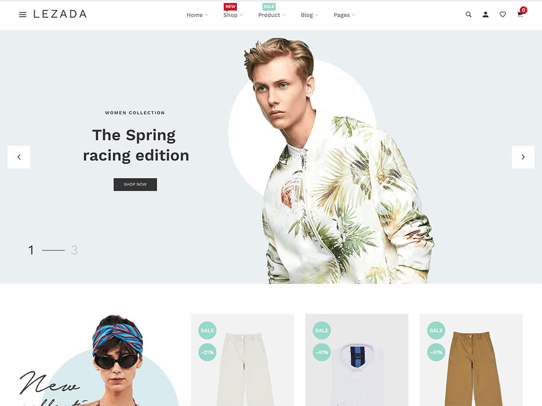 Lezada - 41+ Awesome Shopify Themes For Your Business [year]