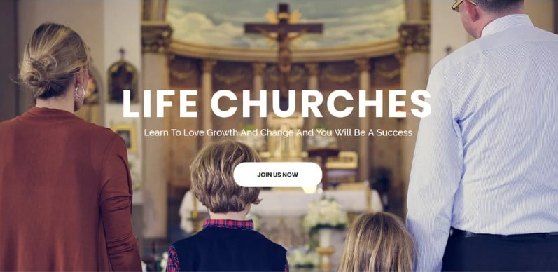 Life-Churches - 31+ Inspiring Modern Church WordPress Themes [year]