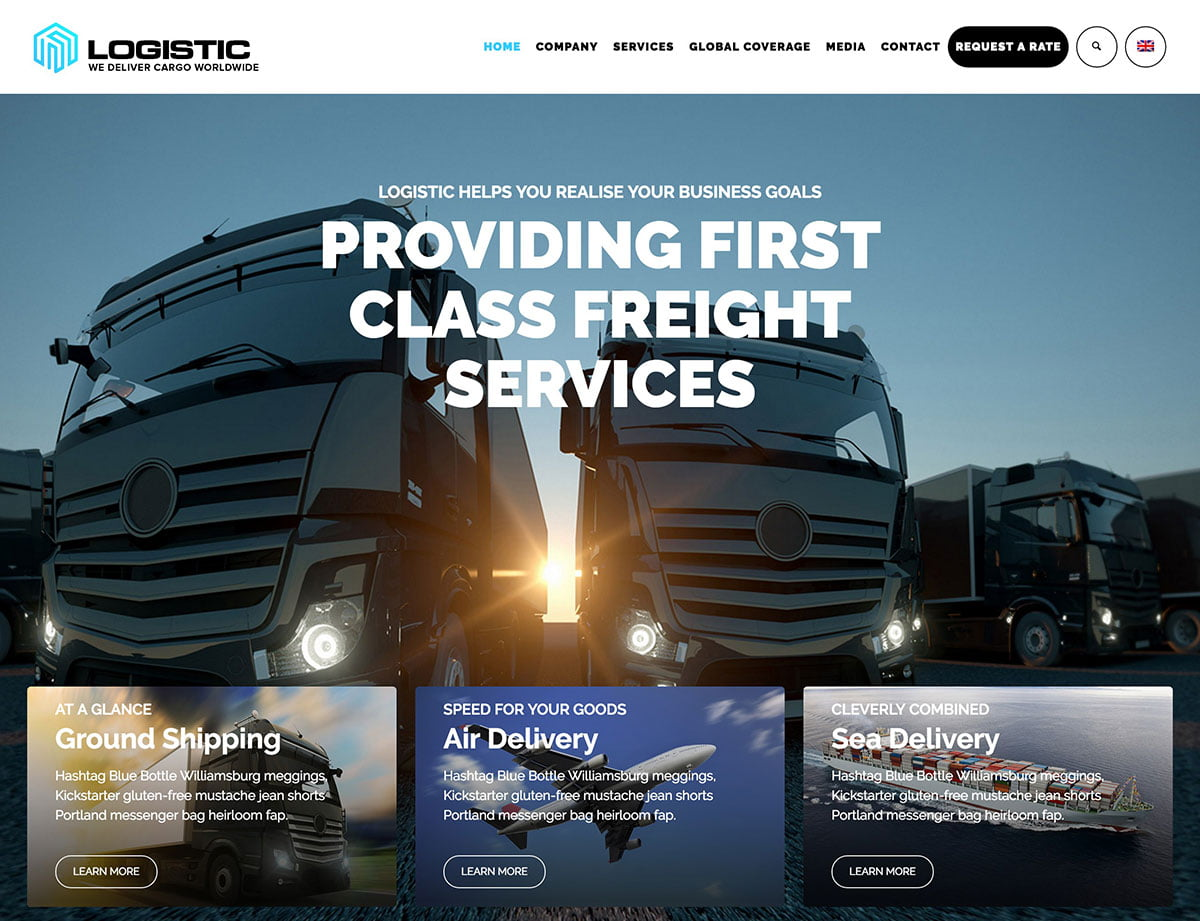 Logistic - 36+ Stunning WordPress Themes For Transportation [year]