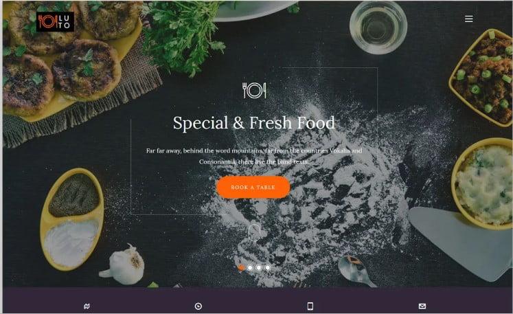 Luto - 41+ Top Best Free WordPress & HTML5 Template [year]