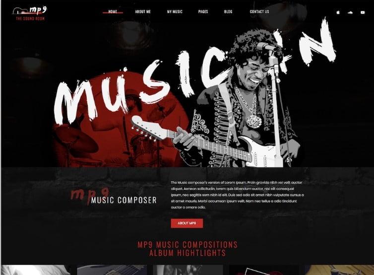 MP9 - 41+ Stunning Responsive Music Website Templates [year]