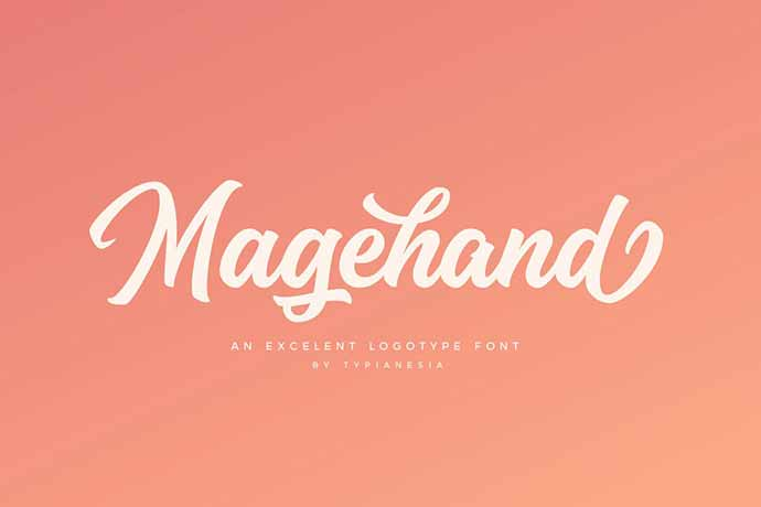 Magehand - 41+ Important Logo Design Fonts For Graphic Designer [year]