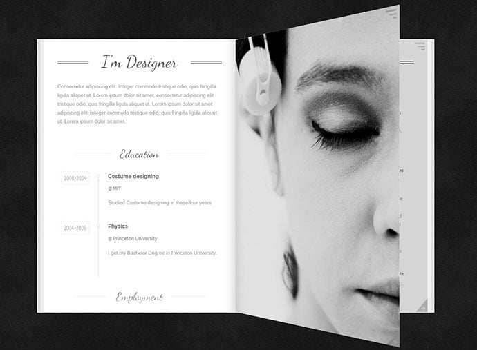 MagicBook - 34+ Marvelous WordPress Resume Themes [year]