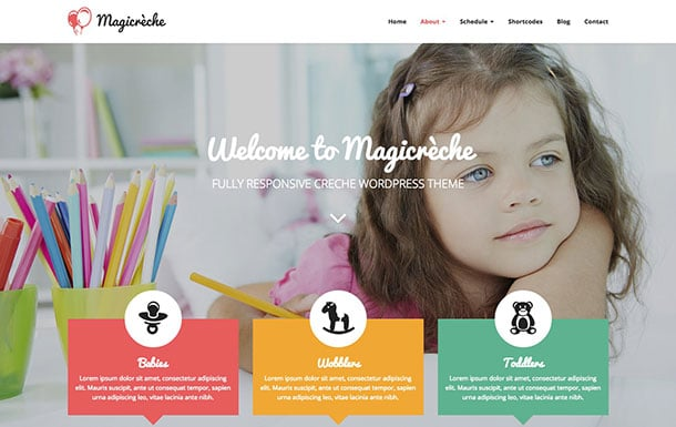 Magicreche - 51+ Top Best WordPress Themes For Education [year]