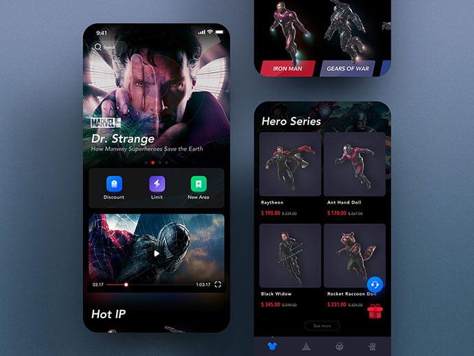 Manway-Film-Mall - 63+ Amazing Film & TV App UI Design Sample [year]