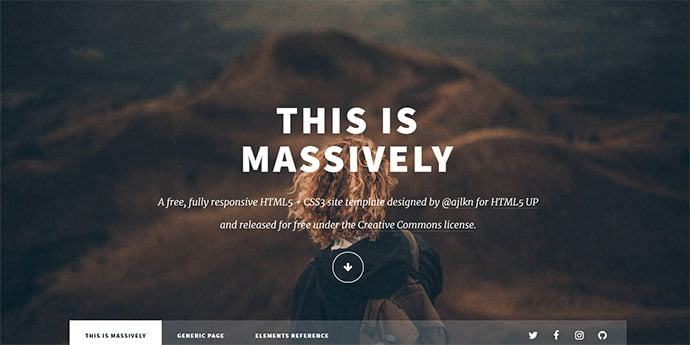 Massively - 65+ Amazing Free CSS HTML5 Website Design Templates [year]