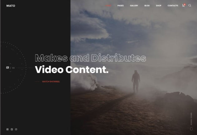 Mato - 26+ Nice WordPress Video Themes For Motion Designer [year]