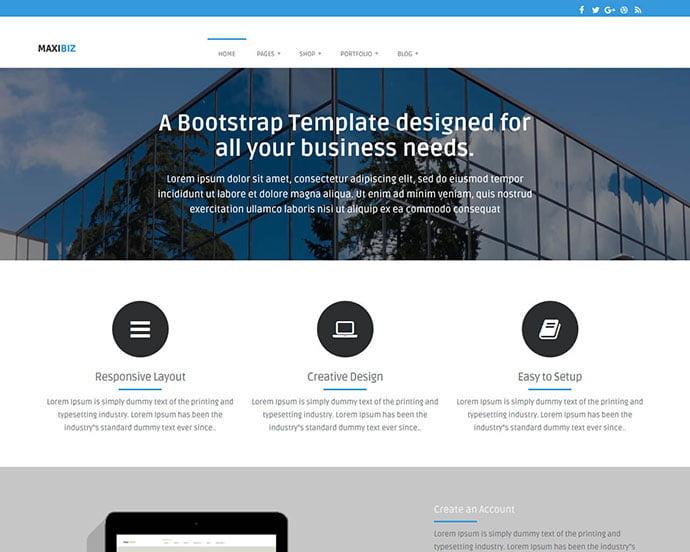 MaxiBiz - 65+ Amazing Free CSS HTML5 Website Design Templates [year]