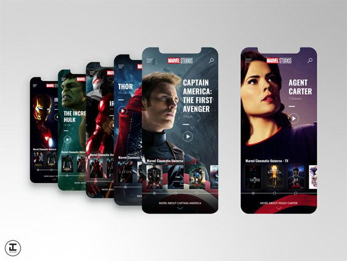 Mcu-App-Concept - 63+ Amazing Film & TV App UI Design Sample [year]
